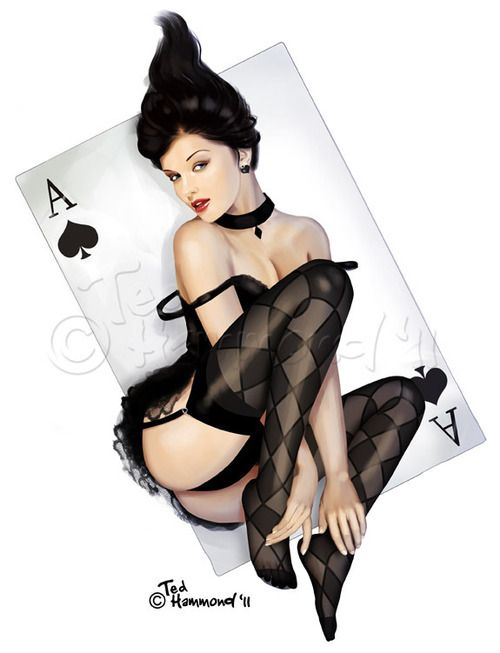 sexy playing card